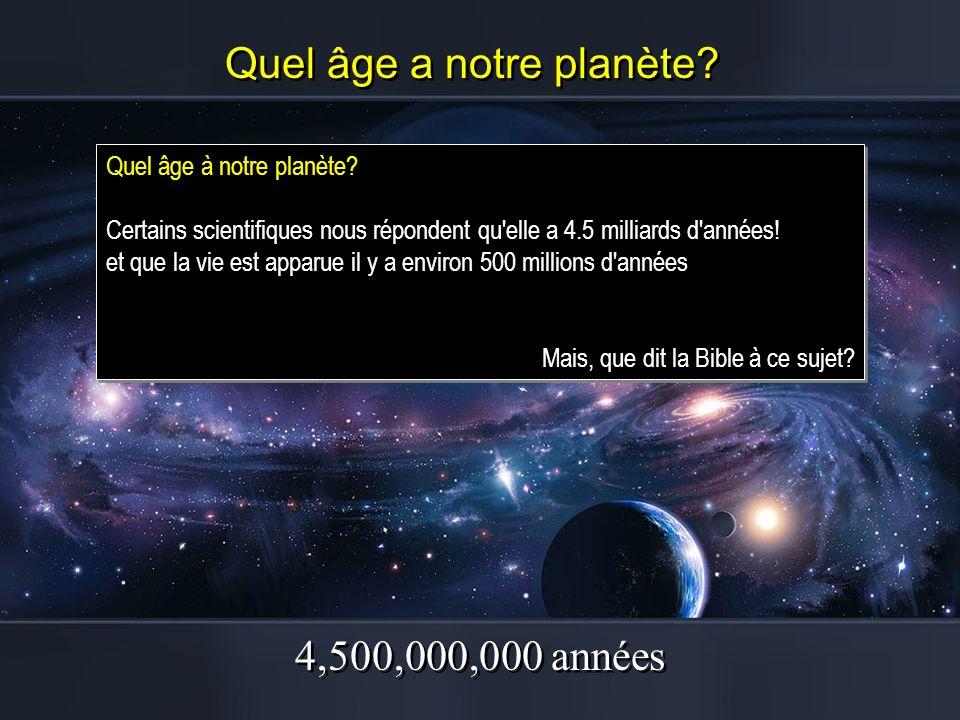 Quel âge a notre planète