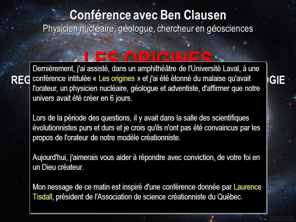 LES ORIGINES Conférence avec Ben Clausen