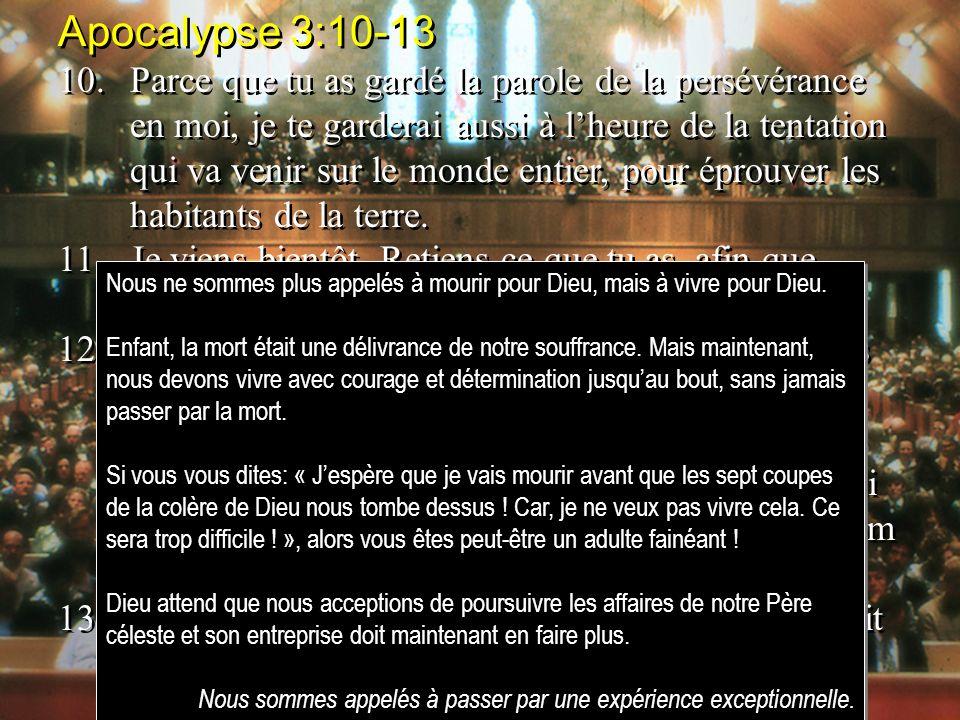 Apocalypse 3:10-13