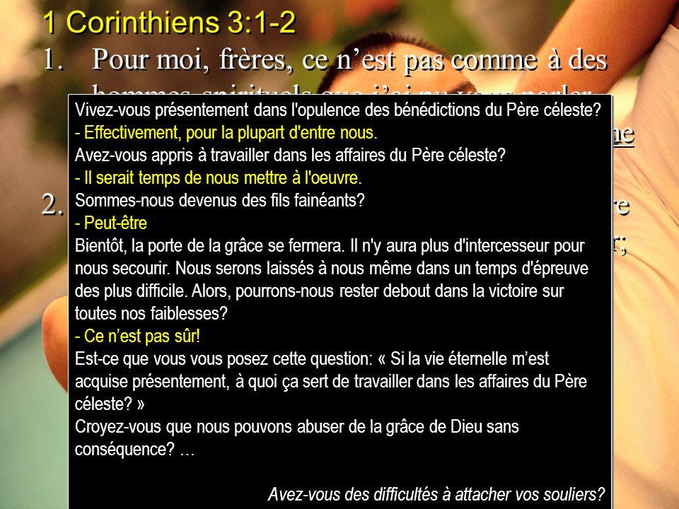 1 Corinthiens 3:1-2