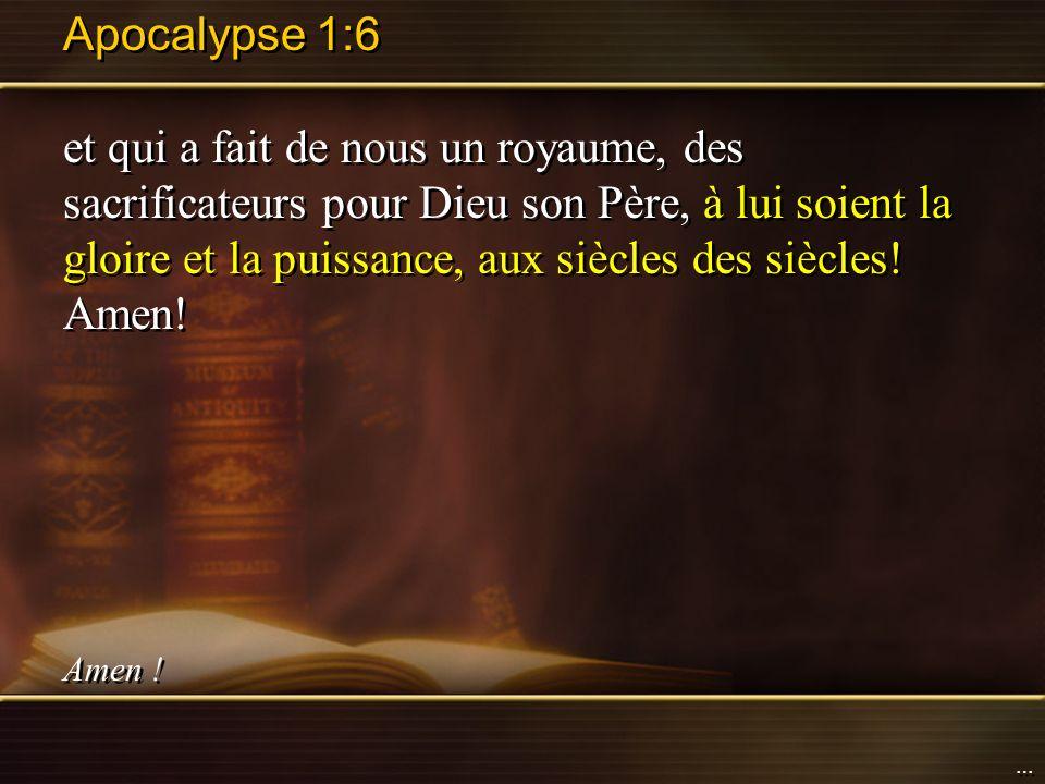 Apocalypse 1:6