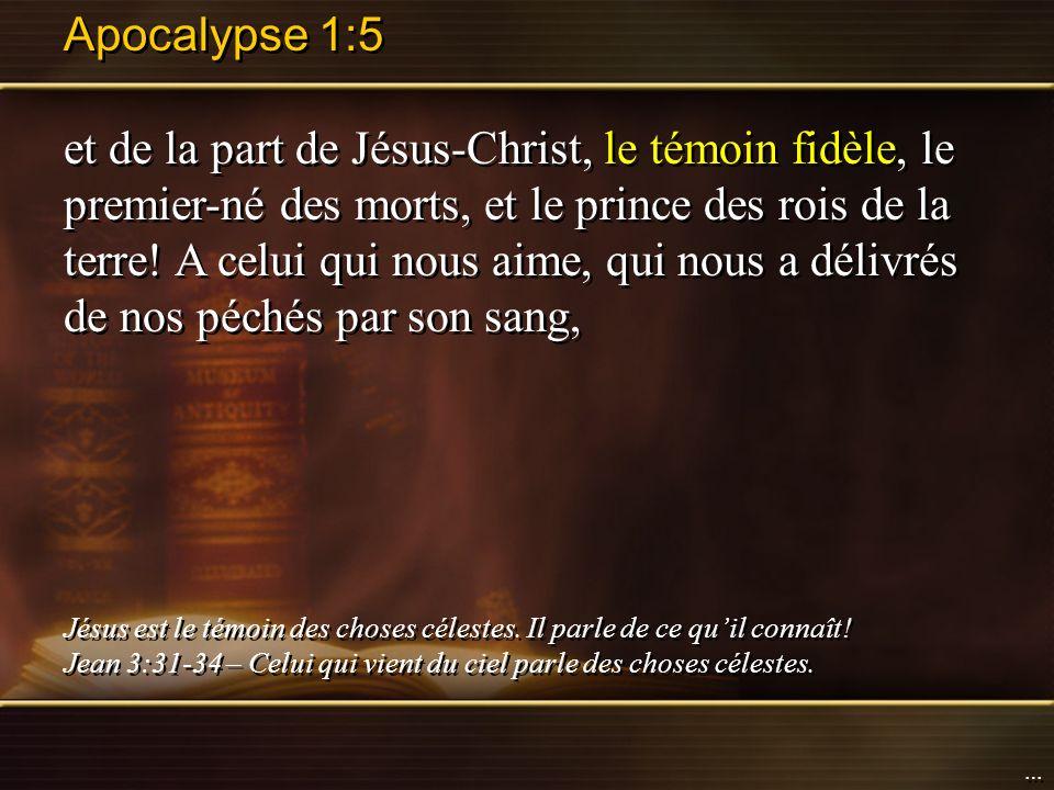 Apocalypse 1:5