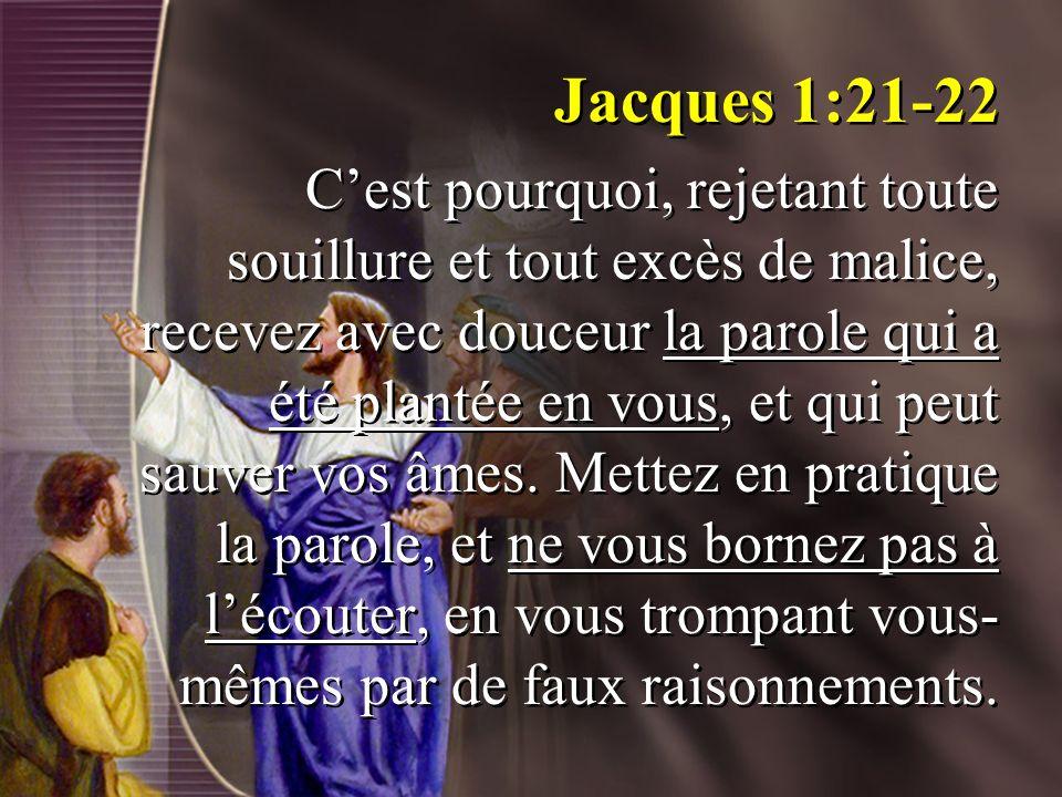 Jacques 1:21-22