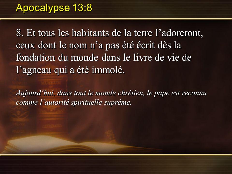 Apocalypse 13:8