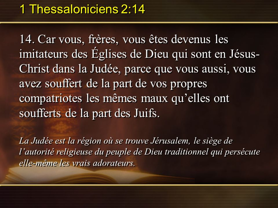 1 Thessaloniciens 2:14