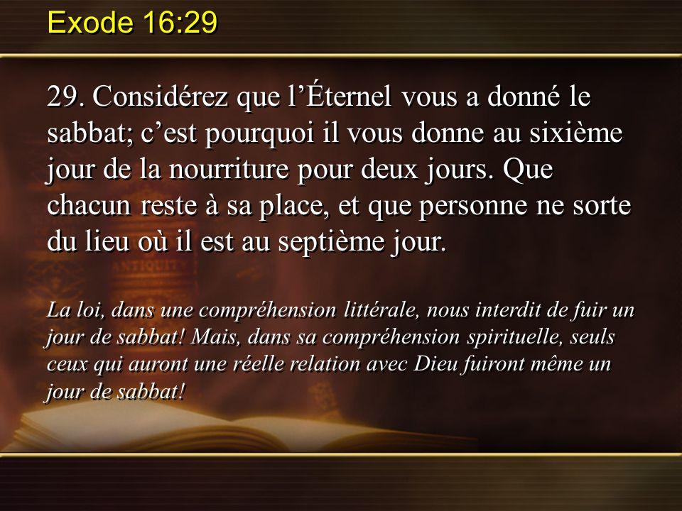 Exode 16:29