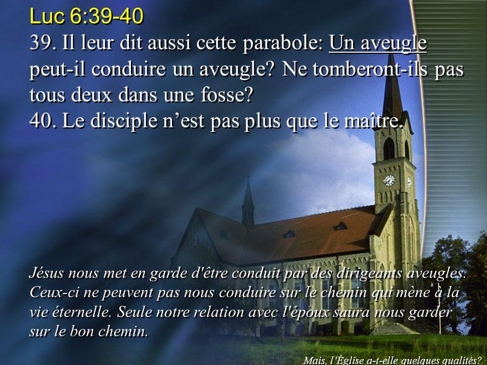 40. Le disciple n'est pas plus que le maître.