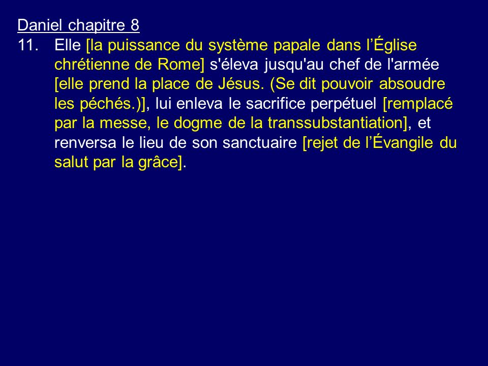 Daniel chapitre 8