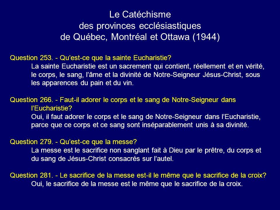 des provinces ecclésiastiques de Québec, Montréal et Ottawa (1944)