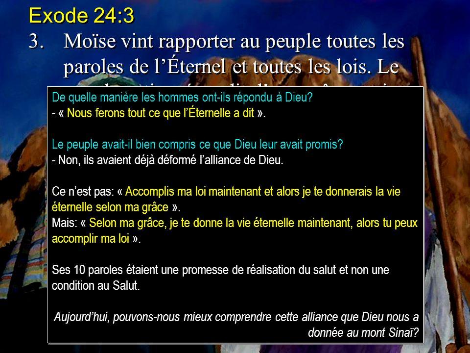 Exode 24:3