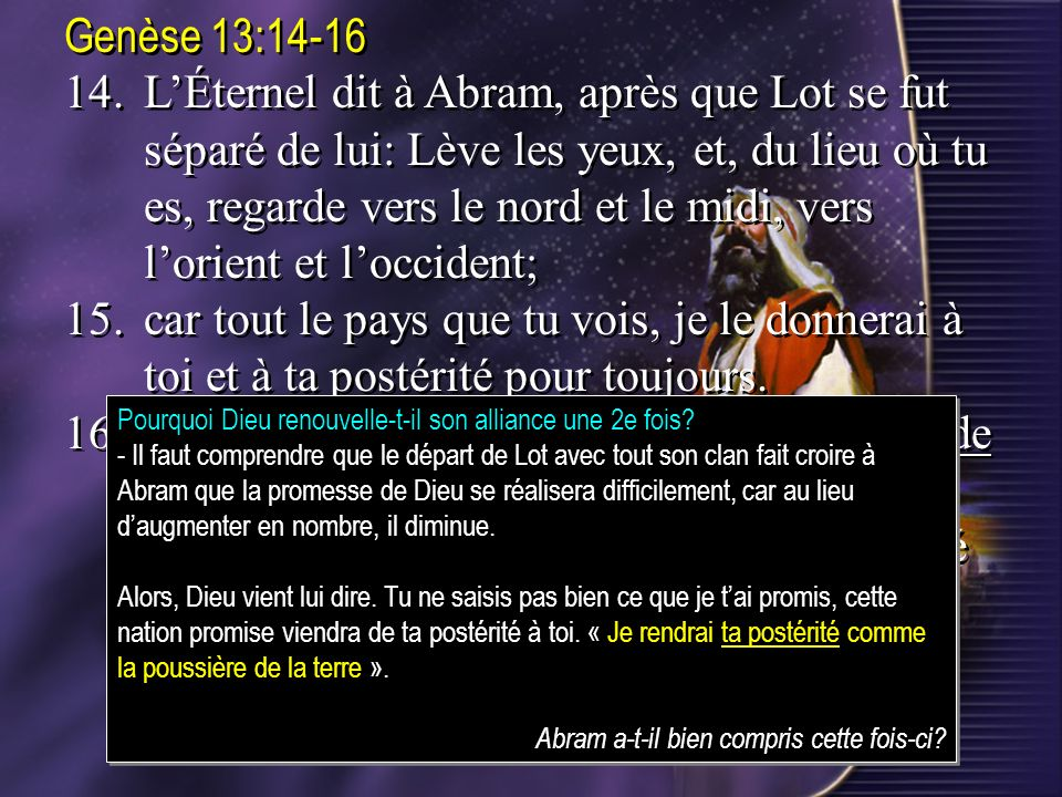 Genèse 13:14-16
