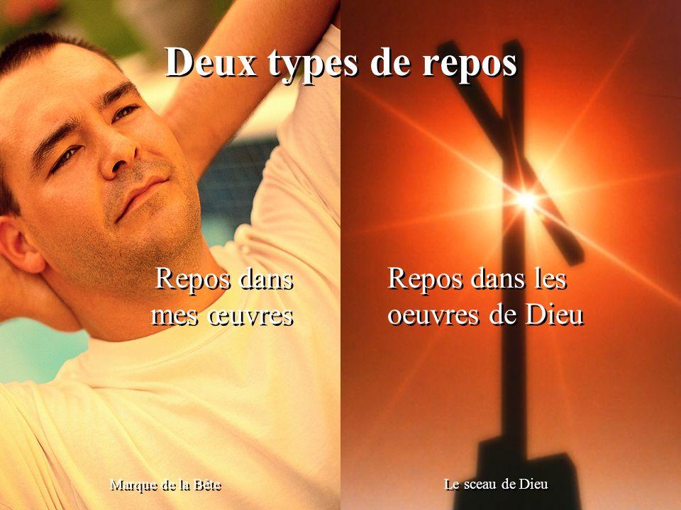 Deux types de repos Repos dans mes œuvres Repos dans les