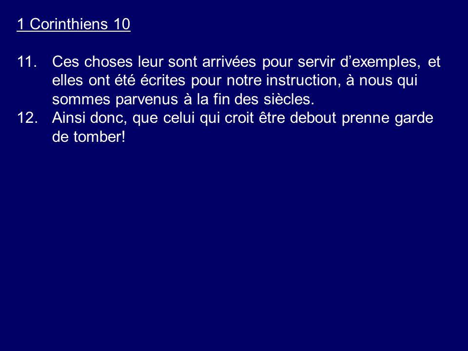 1 Corinthiens 10