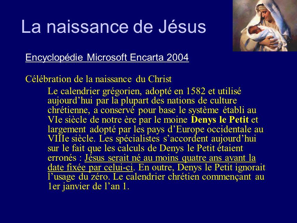 La naissance de Jésus Encyclopédie Microsoft Encarta 2004