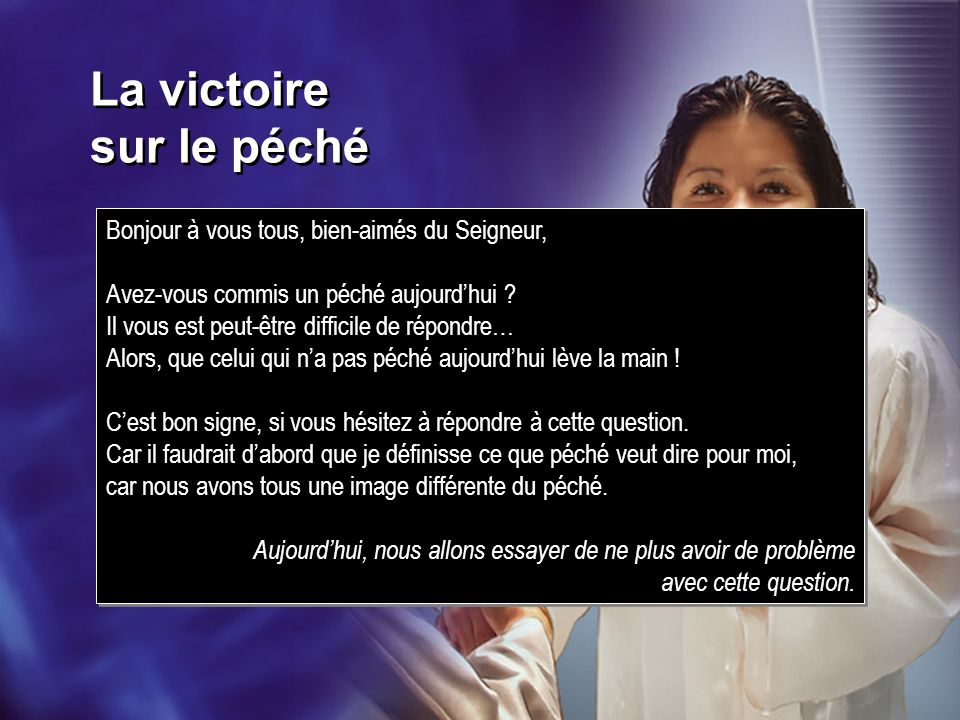 La victoire sur le péché