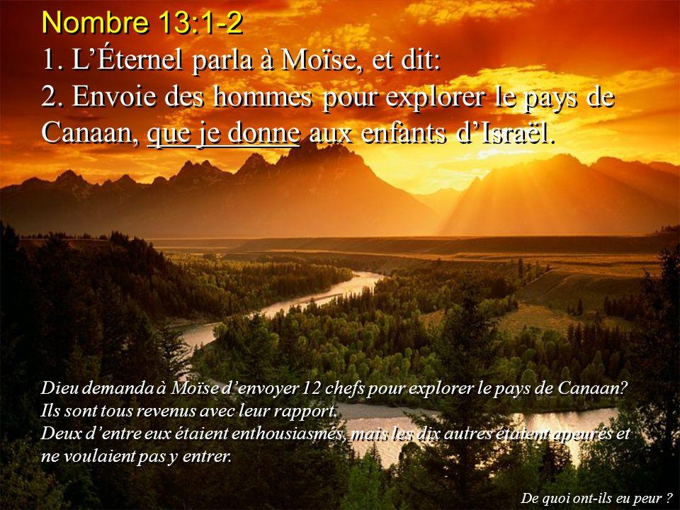 1. L'Éternel parla à Moïse, et dit: