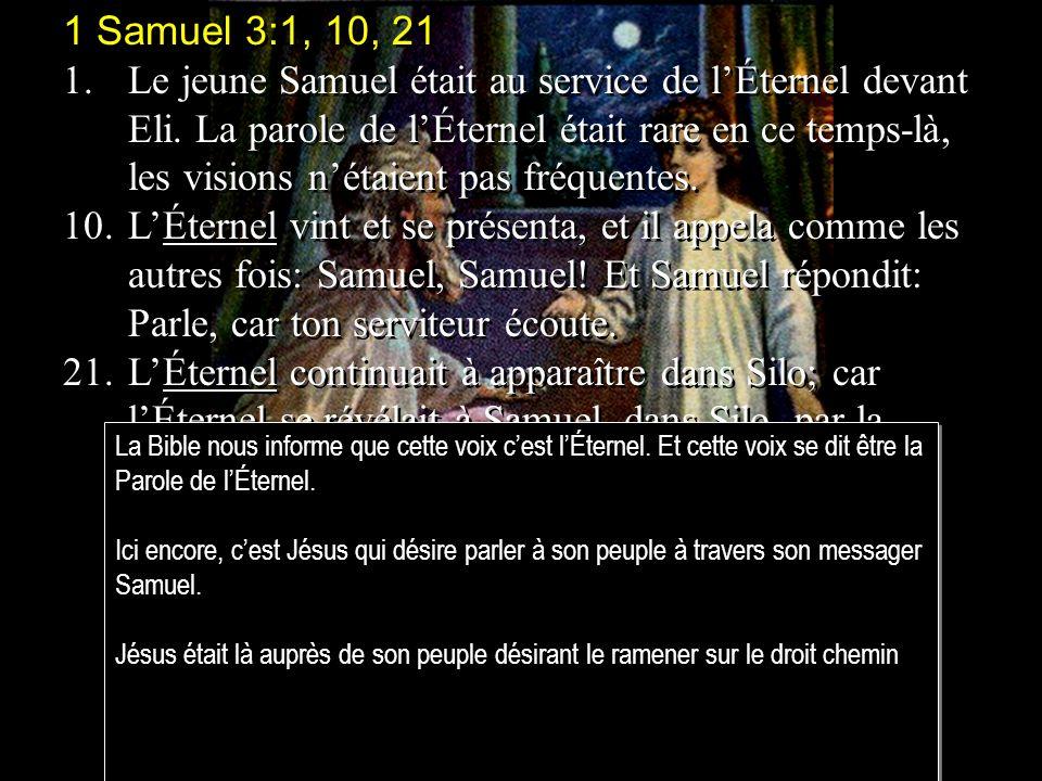 1 Samuel 3:1, 10, 21
