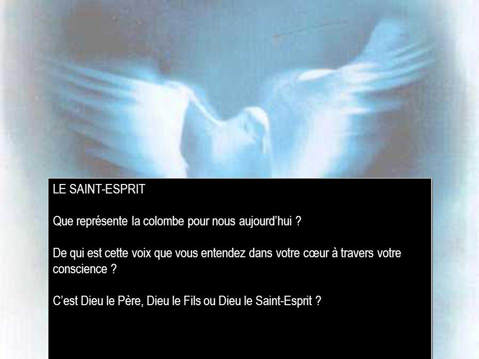 LE SAINT-ESPRIT Que représente la colombe pour nous aujourd'hui