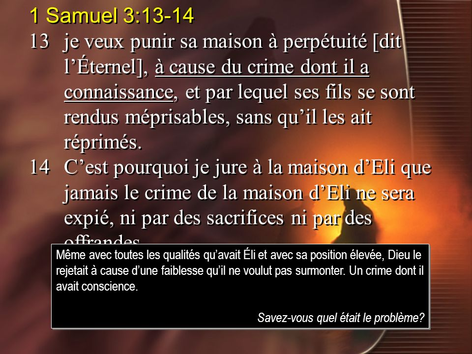 1 Samuel 3:13-14