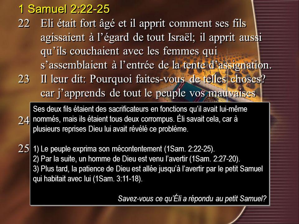 1 Samuel 2:22-25