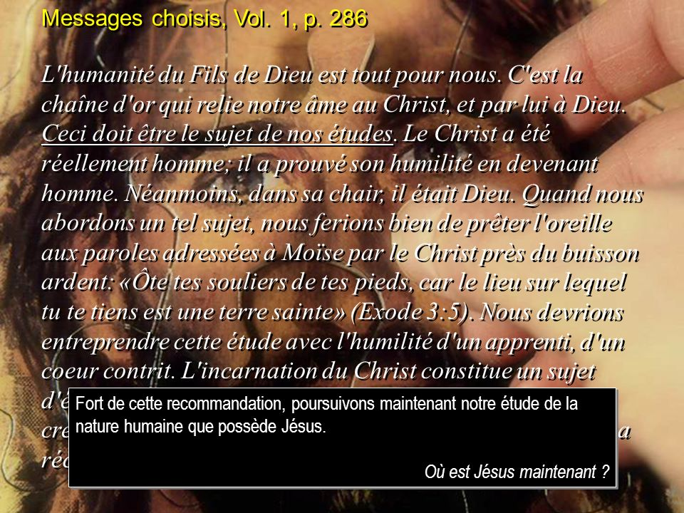 Messages choisis, Vol. 1, p. 286