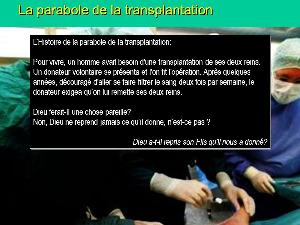 La parabole de la transplantation