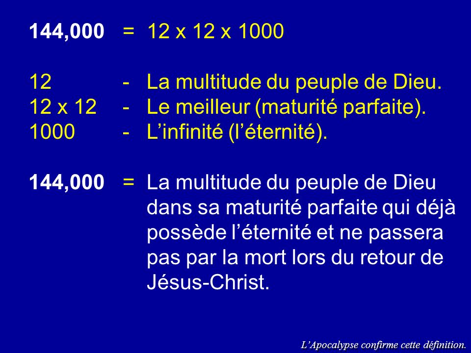 12 - La multitude du peuple de Dieu.