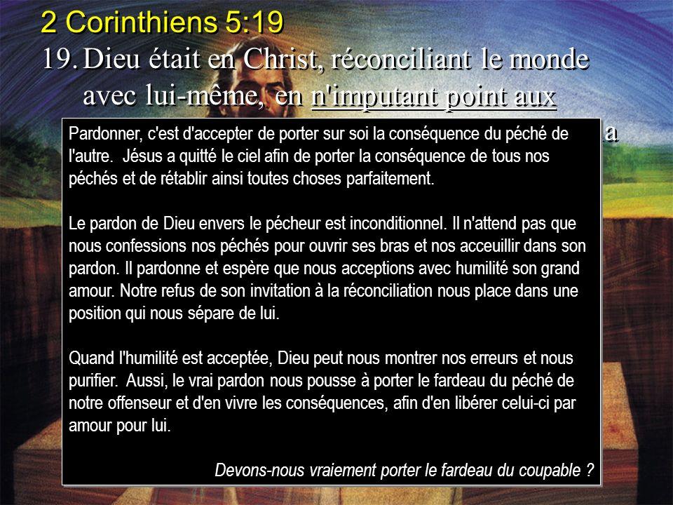 2 Corinthiens 5:19