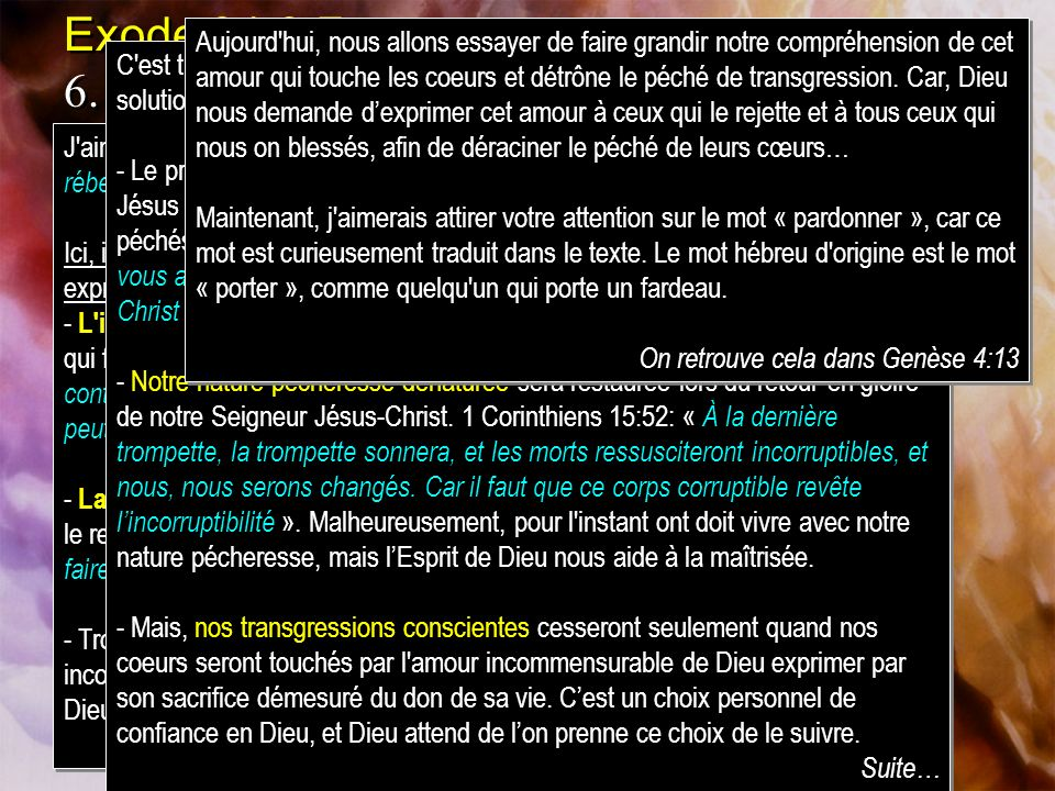 Exode 34:6-7