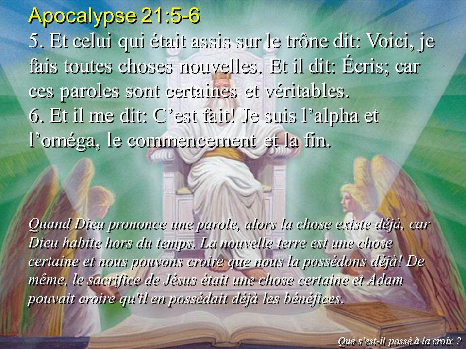 Apocalypse 21:5-6
