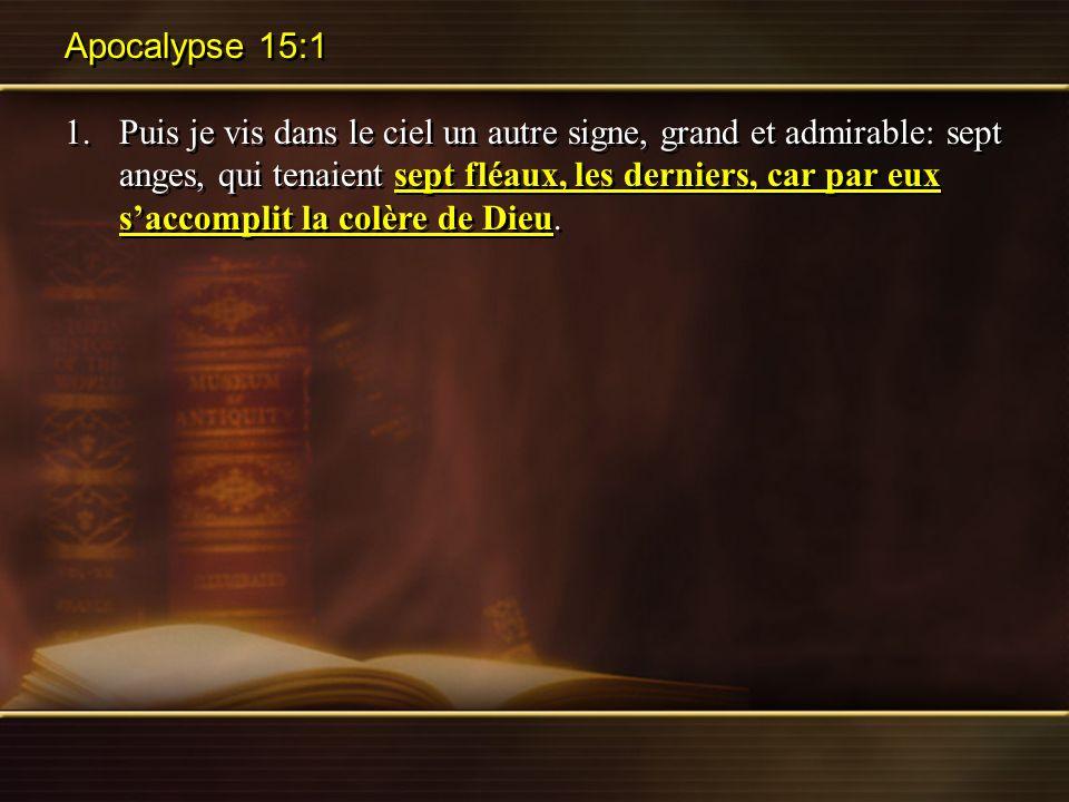 Apocalypse 15:1