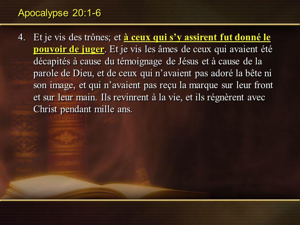 Apocalypse 20:1-6