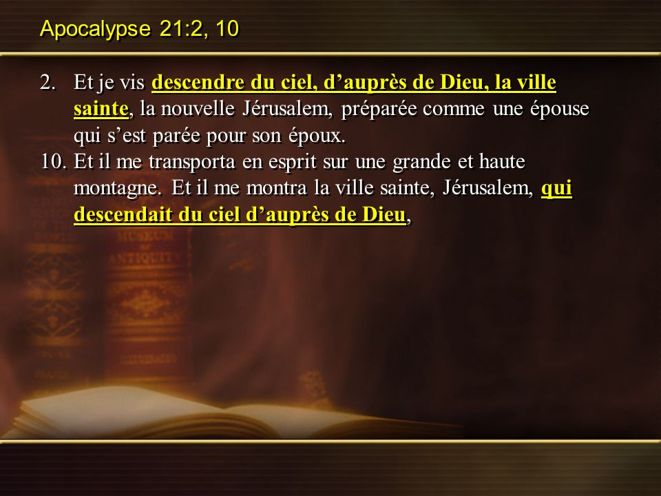 Apocalypse 21:2, 10