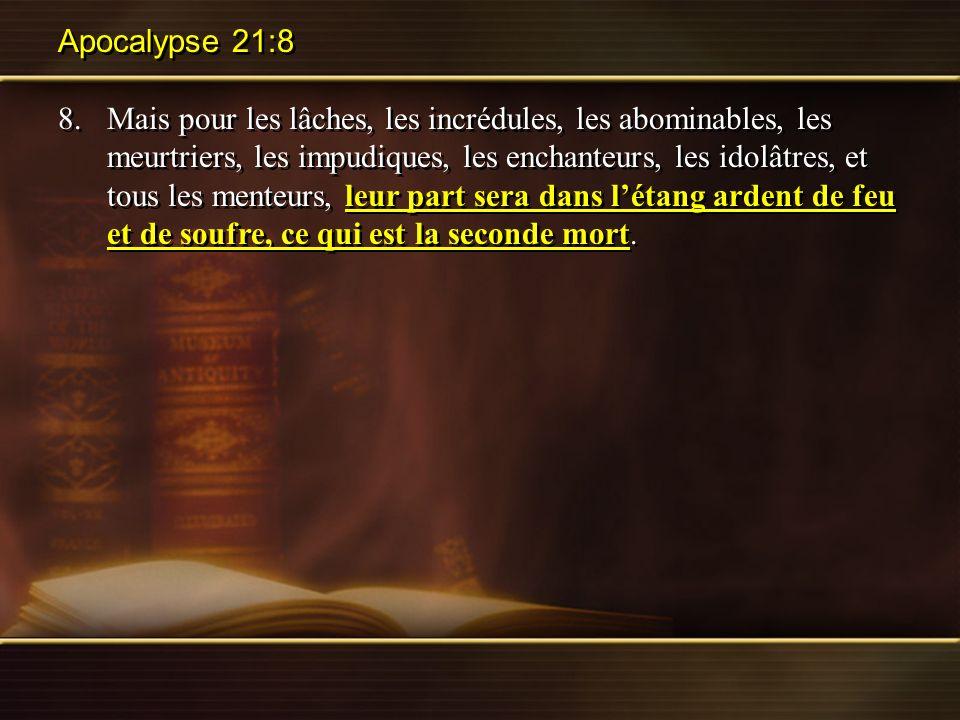 Apocalypse 21:8
