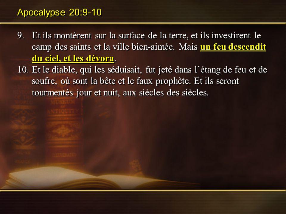 Apocalypse 20:9-10