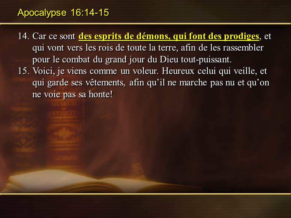 Apocalypse 16:14-15