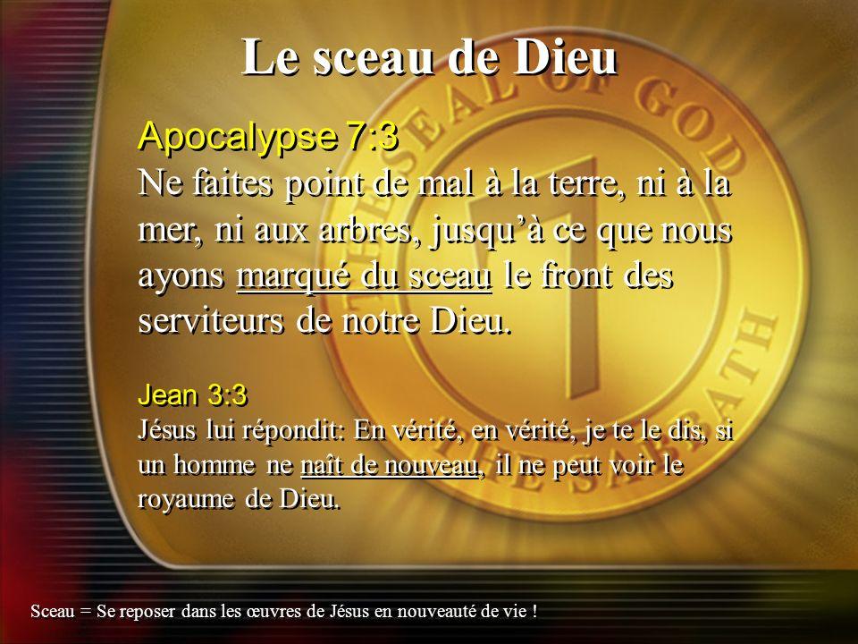 Le sceau de Dieu Apocalypse 7:3