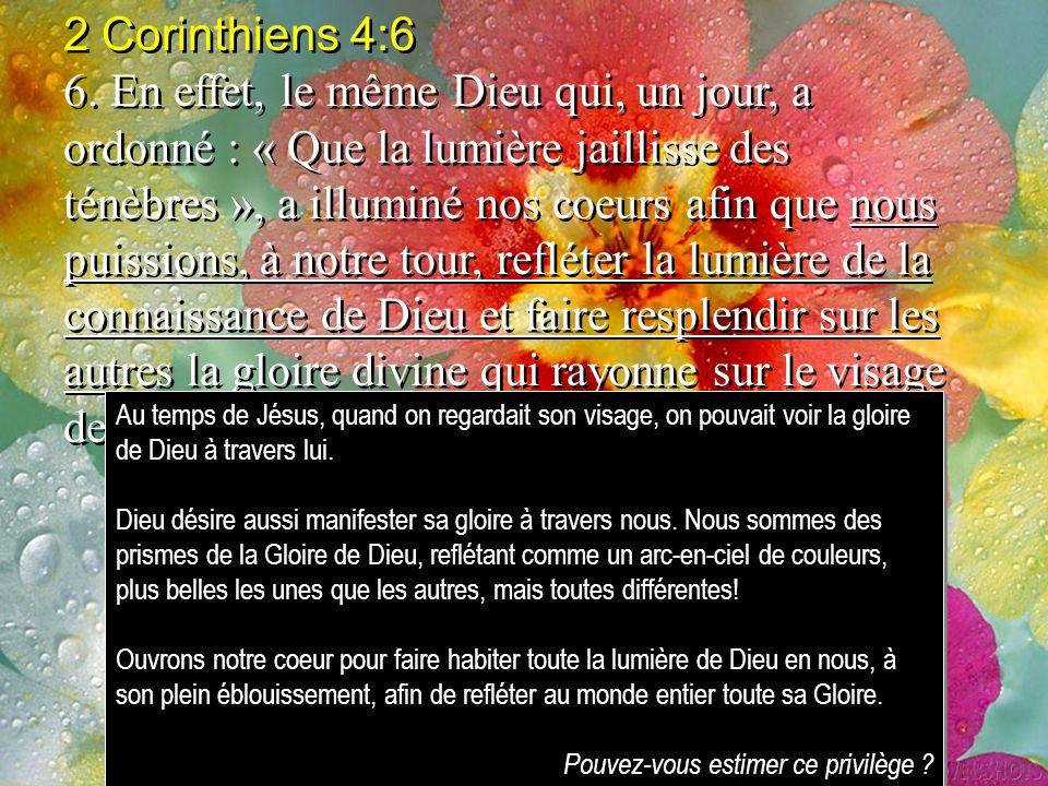 2 Corinthiens 4:6