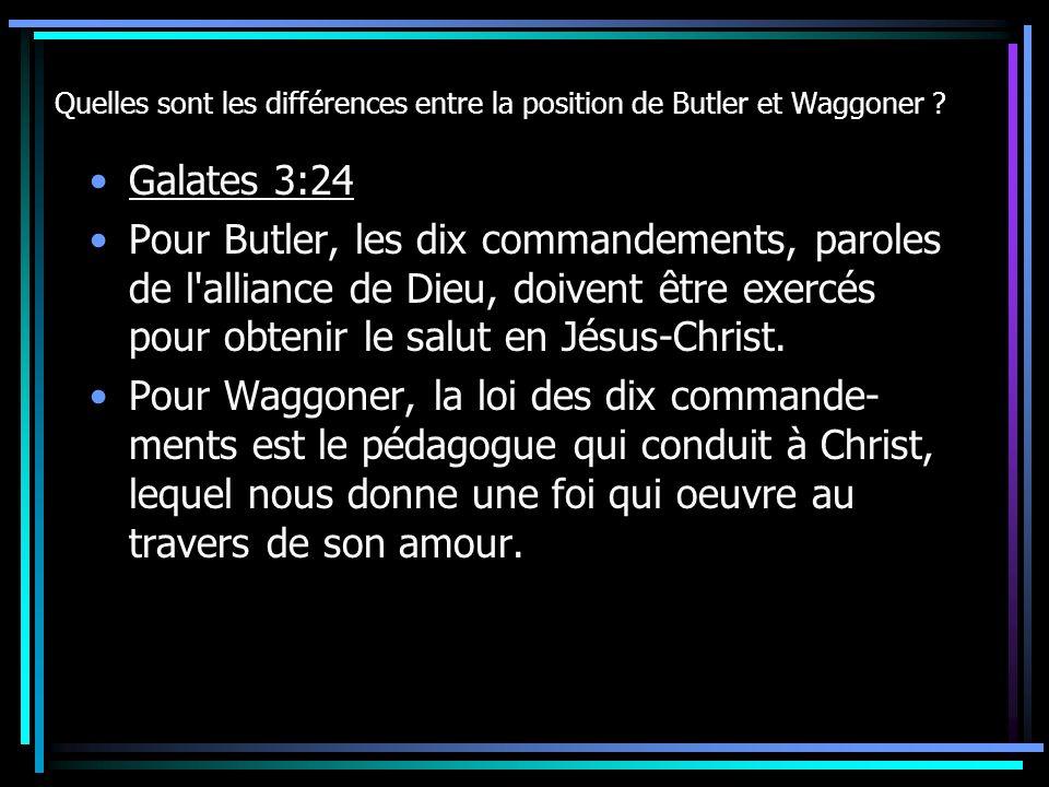 Quelles sont les différences entre la position de Butler et Waggoner