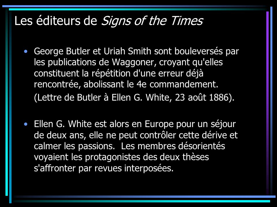 Les éditeurs de Signs of the Times