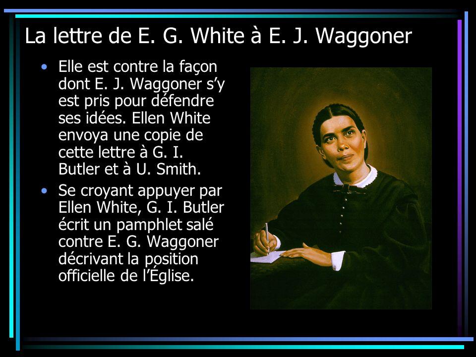 La lettre de E. G. White à E. J. Waggoner