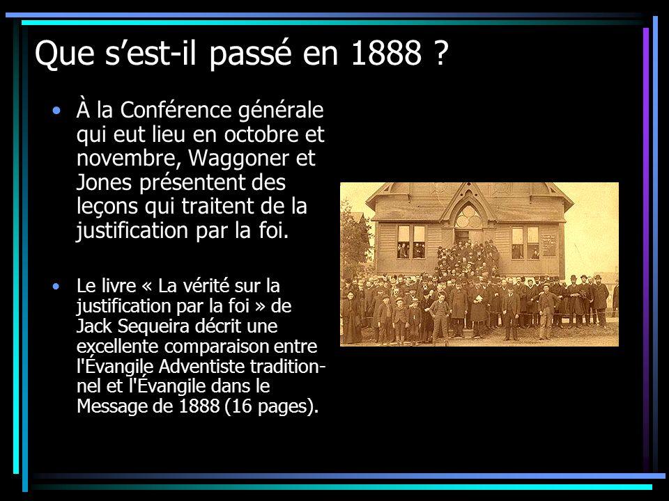 Que s'est-il passé en 1888
