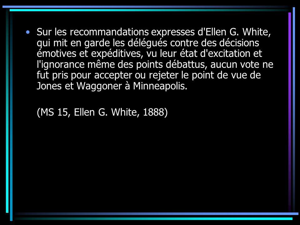 Sur les recommandations expresses d Ellen G