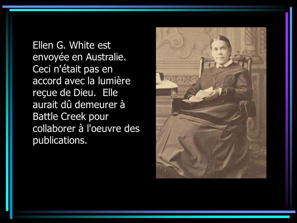 Ellen G. White est envoyée en Australie