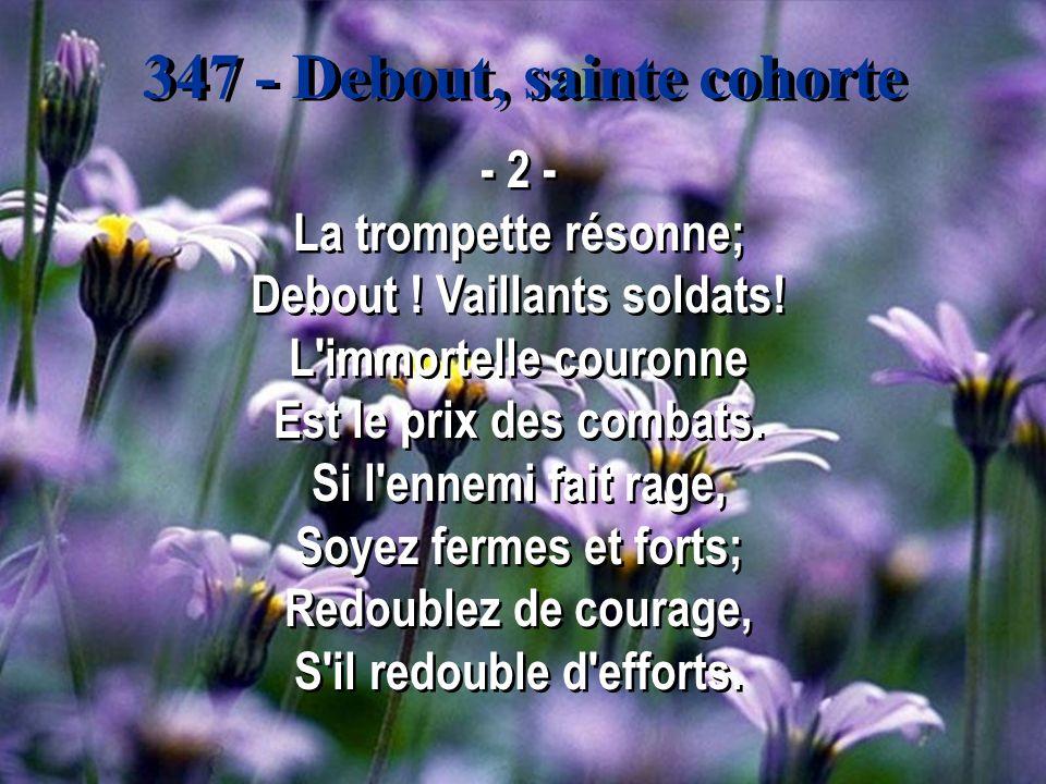 347 - Debout, sainte cohorte