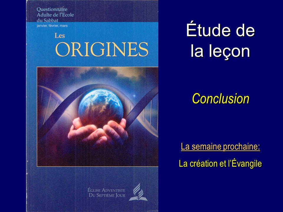 La création et l'Évangile
