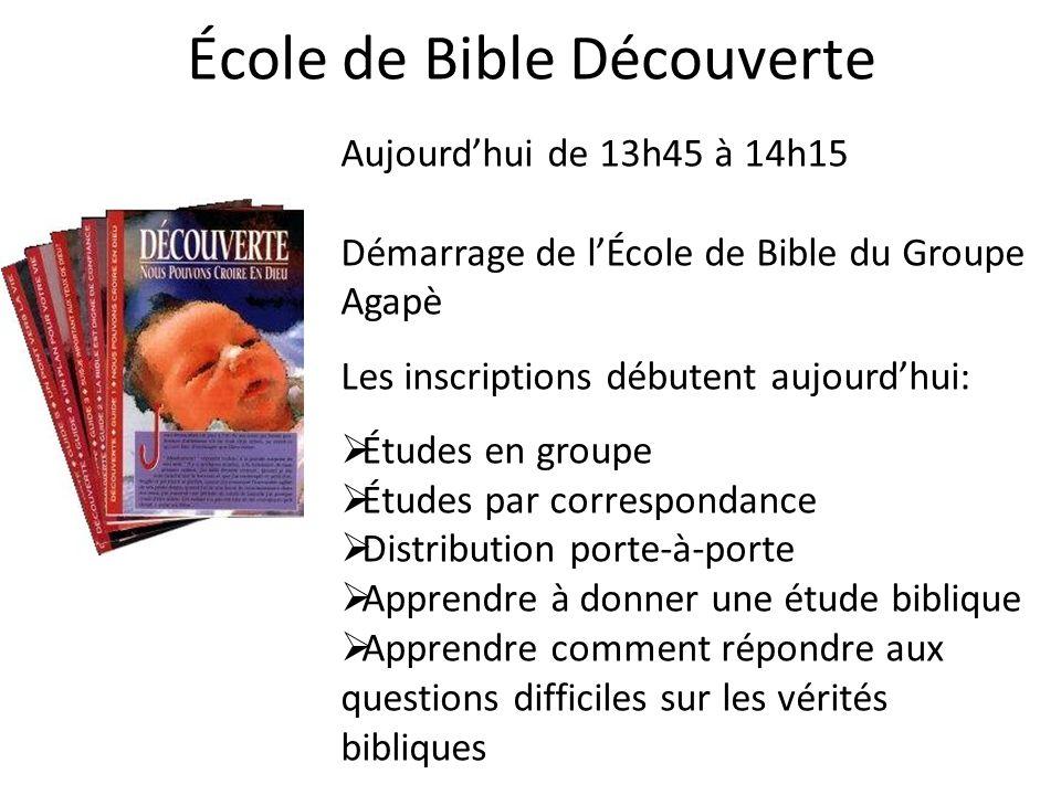 École de Bible Découverte