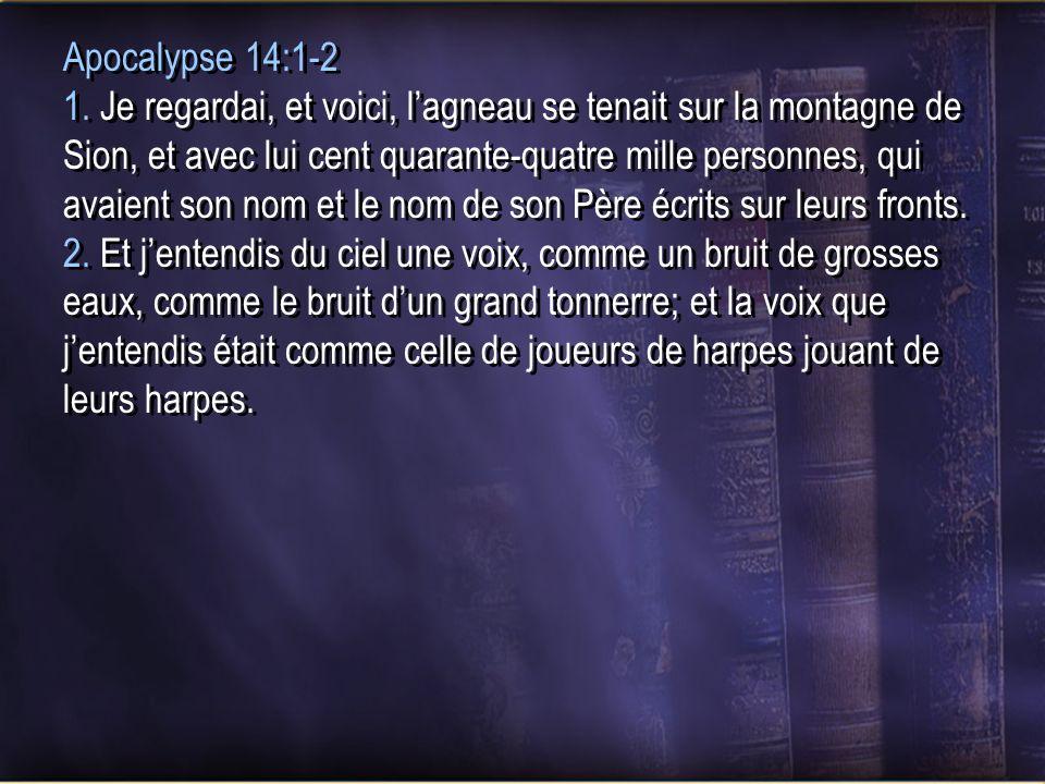 Apocalypse 14:1-2