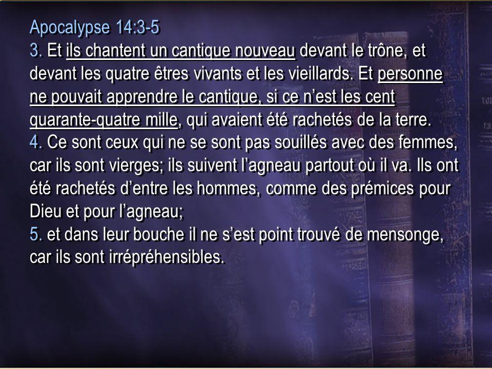 Apocalypse 14:3-5