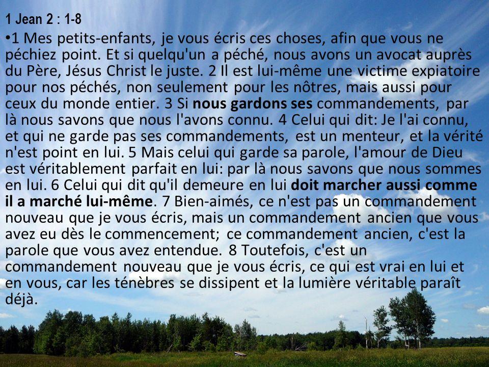 1 Jean 2 : 1-8